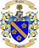 Gaylor Family Crest from England