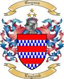 Gaynes Family Crest from England