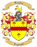 Gayter Family Coat of Arms from England
