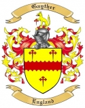 Gayther Family Crest from England