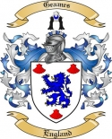 Geames Family Coat of Arms from England