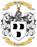 Geddas Family Crest from England