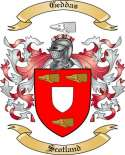 Geddas Family Crest from Scotland