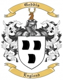 Geddis Family Crest from England
