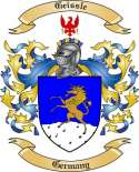 Geissle Family Crest from Germany