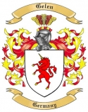 Gelen Family Crest from Germany