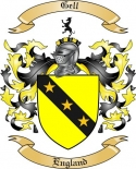 Gell Family Crest from England