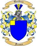 Gendreu Family Coat of Arms from France