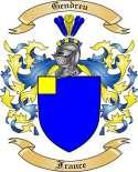 Gendreu Family Crest from France