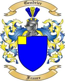 Gendrier Family Coat of Arms from France