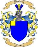 Gendrier Family Crest from France