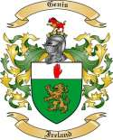 Genis Family Coat of Arms from Ireland