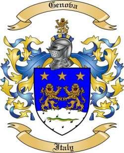 Genova Family Coat of Arms from Italy
