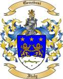 Genovesi Family Coat of Arms from Italy