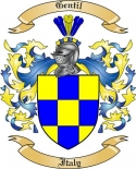 Gentil Family Coat of Arms from Italy2