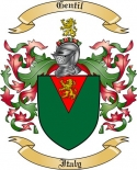 Gentil Family Crest from Italy