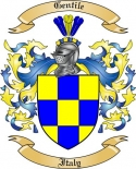 Gentile Family Coat of Arms from Italy2