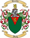 Gentile Family Coat of Arms from Italy