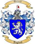 Gerard Family Crest from England