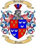 Gerardet Family Crest from France
