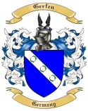 Gerfen Family Crest from Germany