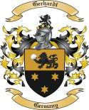 Gerhardt Family Crest from Germany
