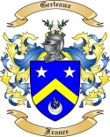 Gerteaux Family Crest from France