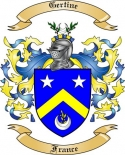 Gertine Family Crest from France
