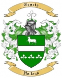 Geurts Family Coat of Arms from Holland