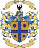 Ghilardini Family Crest from Italy