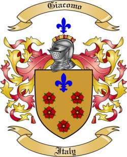 Giacomo Family Crest from Italy