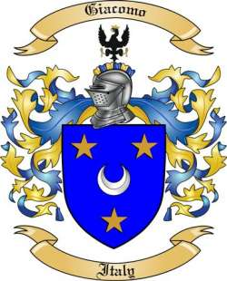 Giacomo Family Crest from Italy2
