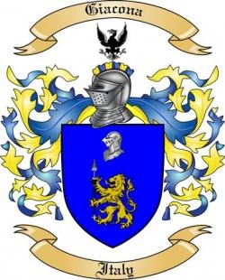 Giacona Family Coat of Arms from Italy