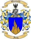 Giannelli Family Crest from Italy