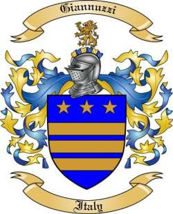 Giannuzzi Family Crest from Italy