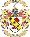 Gibbins Family Coat of Arms from England