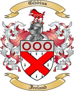 Gibbins Family Crest from Ireland