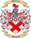 Gibbins Family Coat of Arms from Ireland