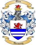 Gies Family Crest from Germany
