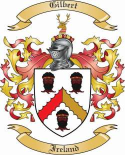 Gilbert Family Crest From Ireland By The Tree Maker
