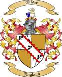 Gildee Family Coat of Arms from England