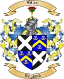 Giles Family Crest from England2