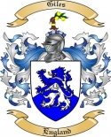 Giles Family Crest from England3