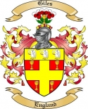Giles Family Crest from England