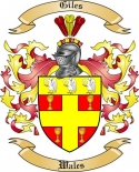 Giles Family Coat of Arms from Wales