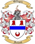 Gillegan Family Coat of Arms from Ireland