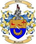 Gilles Family Crest from Scotland