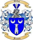 Gillet Family Coat of Arms from France
