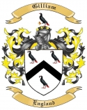 Gilliam Family Crest from England