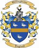 Gillingwater Family Crest from England